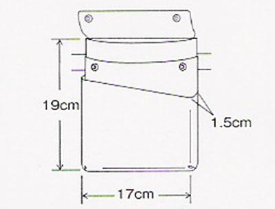 ポーチ(ベルトの長さ調節可能) サイズ詳細