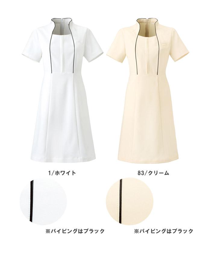 【全4色】クラシカル立ち襟ワンピース