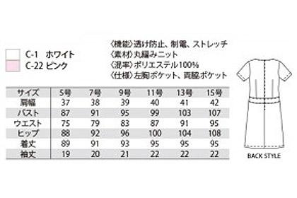 【2色】ワンピース(グラフチェック柄) サイズ詳細
