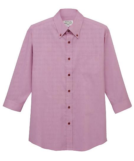 【全3色】ボタンダウンシャツ(七分袖)〔兼用〕