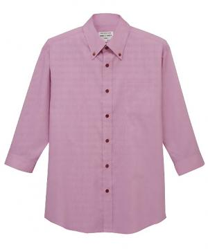 【3色】ボタンダウンシャツ(七分袖)〔兼用〕