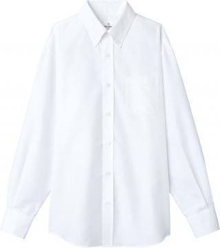 ユニフォームや制服・事務服・作業服・白衣通販の【ユニデポ】ボタンダウンシャツ(長袖・兼用)