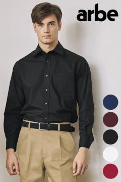 【5色】ストレッチブロードシャツ(長袖・兼用)