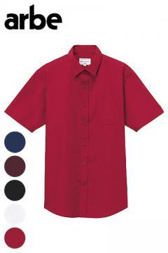 【5色】ストレッチブロードシャツ(半袖・兼用)