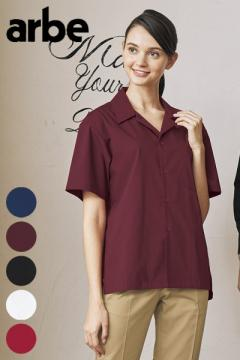 【5色】ストレッチブロード開襟シャツ(長袖・兼用)