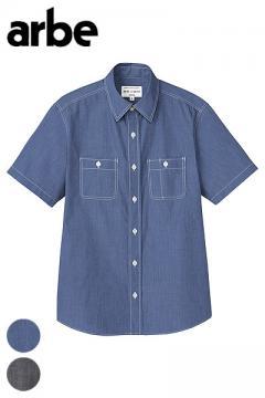 ダブルステッチ ダンガリーシャツ(半袖・兼用)