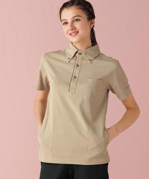 【MICHEL KLEIN】半袖ボタンダウンニットシャツ(男女兼用)