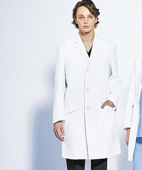 【Mizuno】ドクターコート 白衣(シングル)【男】(制菌・透け防止機能)