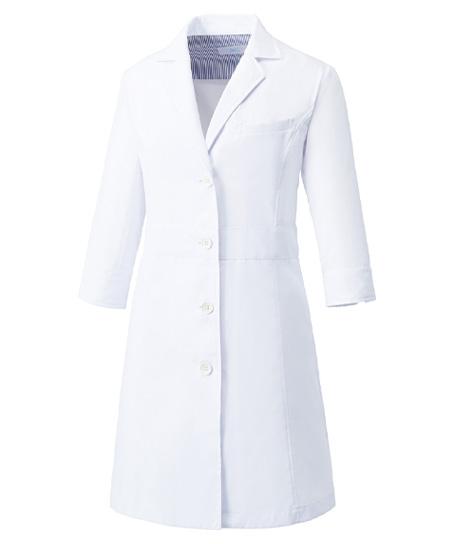 【Mizuno】ミズノ 七分袖ドクターコート白衣【女】(制菌・透け防止機能)
