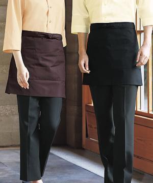 コックコート・フード・飲食店制服・ユニフォームの通販の【レストランデポ】ショートエプロン