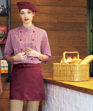 コックコート・フード・飲食店制服・ユニフォームの通販の【レストランデポ】【9色】ショートエプロン(ストレッチ・撥油・制電/40㎝)
