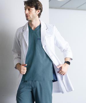 白衣や医療施設用ユニフォームの通販の【メディカルデポ】【Dickies】ディッキーズ メンズ ドクターコート 白衣