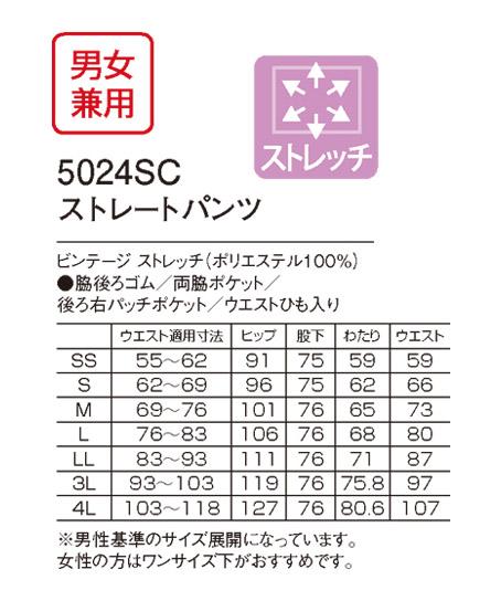 【Dickies】ディッキーズ ビンテージストレッチストレートパンツ(男女兼用) サイズ詳細