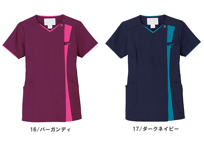 【全6色】レディスジップスクラブ 白衣