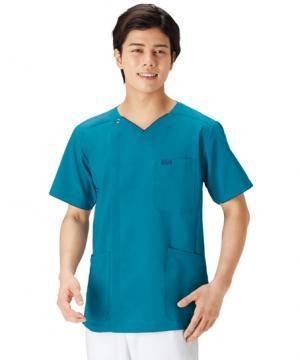 エステサロンやリラクゼーションサロン用ユニフォームの通販の【エステデポ】メンズジップスクラブ 白衣