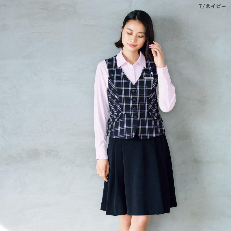 【全2色】ソフトプリーツスカート(バックアップカイロポケット付)