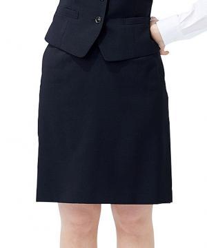 ユニフォームや制服・事務服・作業服・白衣通販の【ユニデポ】【全2色】Aラインスカート(ストレッチカルゼ)
