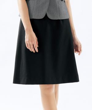 【全3色】ベルトレスAラインスカート(シャドーチェック)