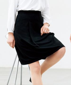 事務服用ユニフォームの通販の【事務服デポ】脇ゴムソフトプリーツスカート(春夏用)