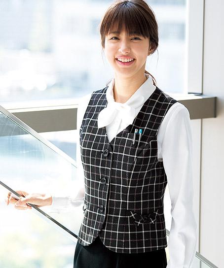 【2色】ベスト(レインボーチェック)