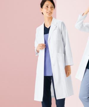レディースドクターコート白衣(ワコール/軽量素材)