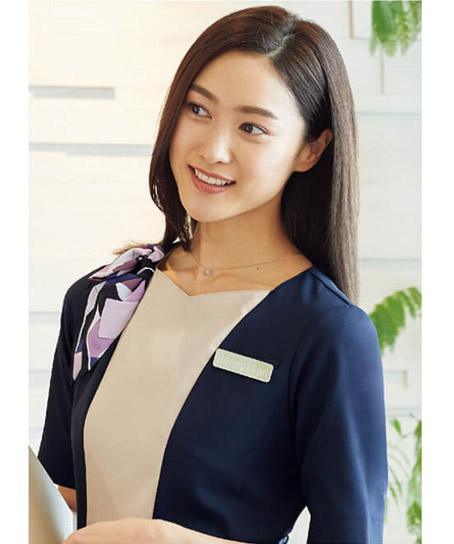 【2色】リボンスカーフ/クリップ止め