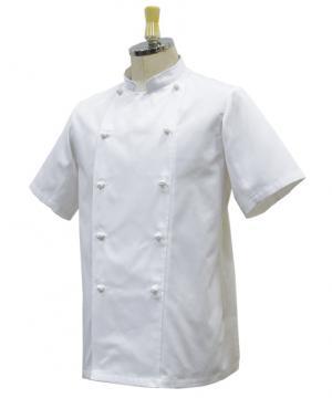 『軽くて、涼しい』薄手半袖コックコート(~6Lサイズ)【WEB先行販売】