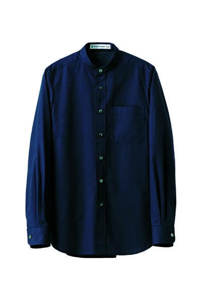 スタンドカラーシャツ(男女兼用)