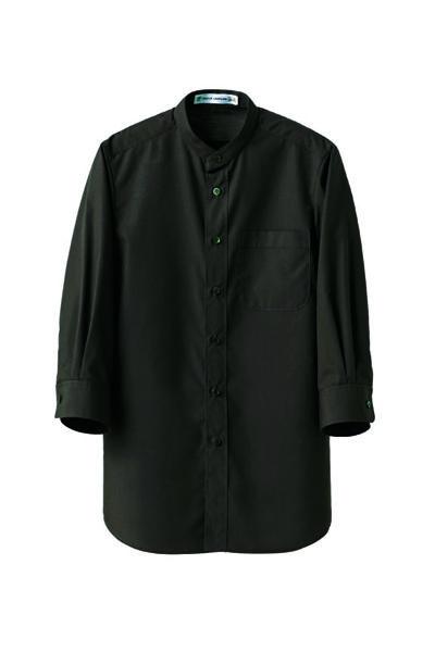 7分袖スタンドカラーシャツ