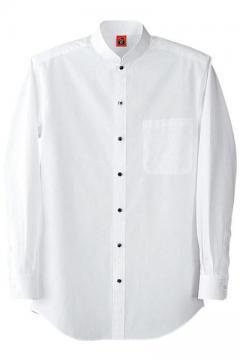 ユニフォームや制服・事務服・作業服・白衣通販の【ユニデポ】スタンドカラー長袖シャツ