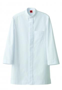 作業服の通販の【作業着デポ】8分袖スタンドカラーシャツ