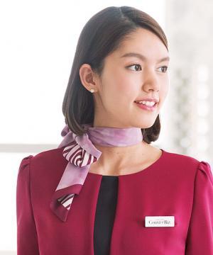 エステ・美容サロン用【全2色】スカーフ(ストライプ&花柄)