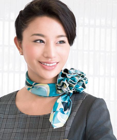 【2色】スカーフ+リングコサージュセット