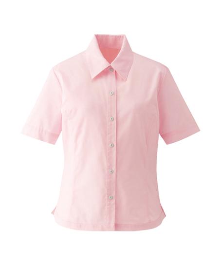【全10色】半袖ブラウスシャツ(防汚加工・形態安定)