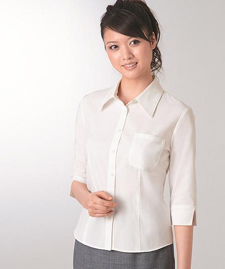 【10色】レディスシャツ(七分袖)