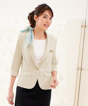【3色】七分袖ジャケット(ソフティファイン モクロディー)