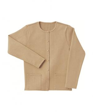 【全3色】クルーネックカーディガン(手洗い・制電繊維・毛玉防止・ウール混)