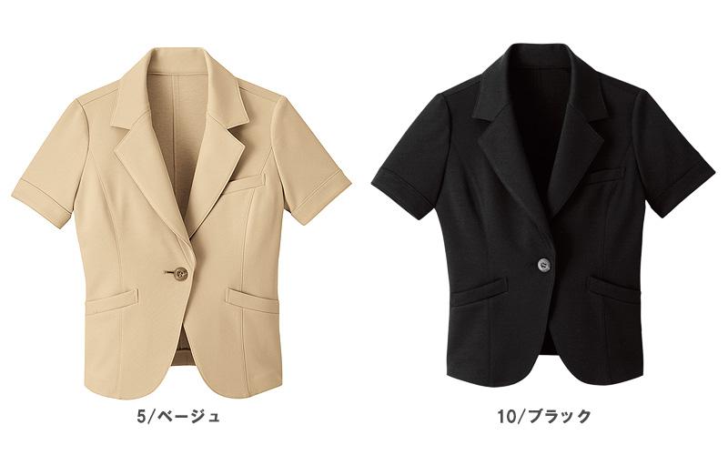【全2色】半袖ジャケット(洗濯機OK・ノーアイロン)