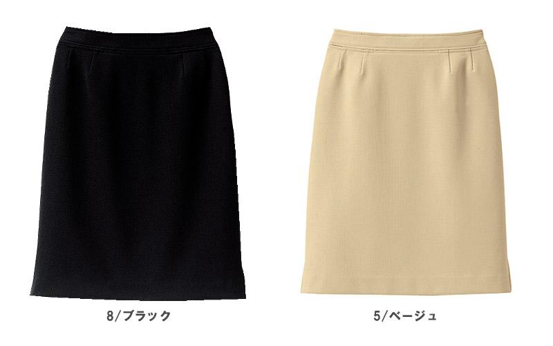 【2色】サイドスリットスカート(洗濯機OK・ノーアイロン)
