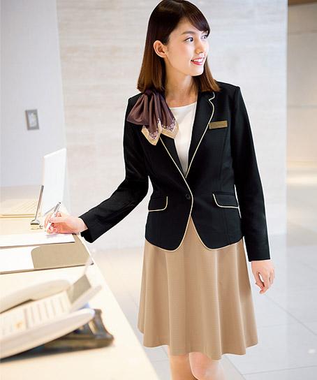 【2色】フレアスカート(ストレッチ・吸汗速乾・静電気防止)