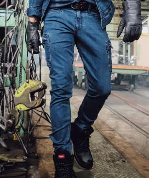 作業服の通販の【作業着デポ】【EVENRIVER】ヘビーエクストリームストレッチデニムカーゴパンツ