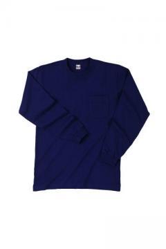作業服・作業着用ユニフォームの通販の【作業着デポ】長袖Tシャツ(左胸ポケット付)