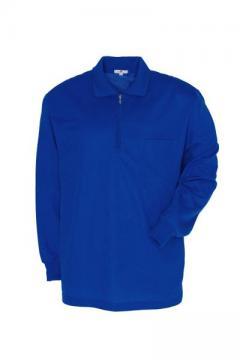 作業服の通販の【作業着デポ】【全6色】長袖ジップポロシャツ(吸汗速乾)