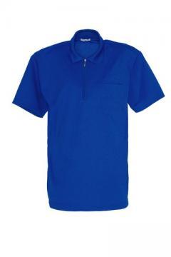 半袖ジップポロシャツ