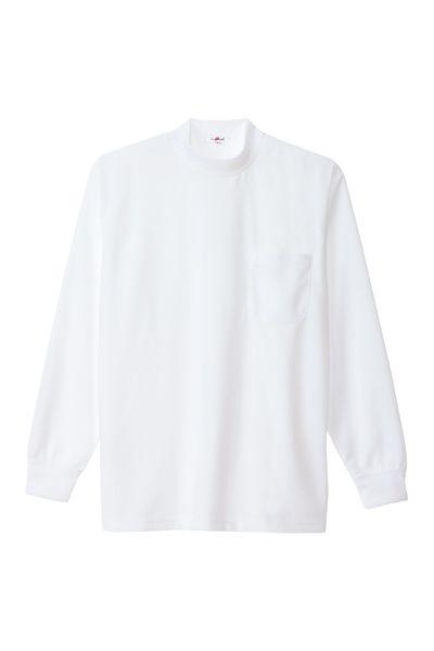 長袖ローネックTシャツ