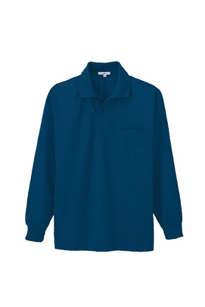 長袖ペン差し付きポロシャツ