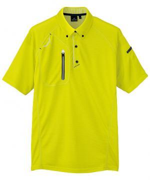 ユニフォームや制服・事務服・作業服・白衣通販の【ユニデポ】半袖ボタンダウンポロシャツ(男女兼用)