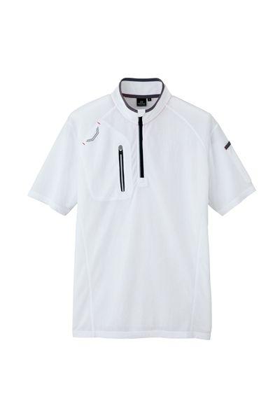 半袖ハーフZIPシャツ(男女兼用)