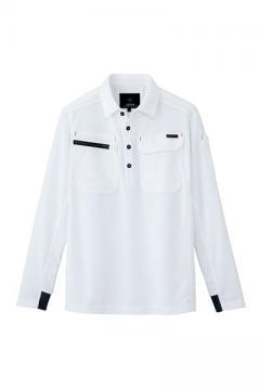 ユニフォームや制服・事務服・作業服・白衣通販の【ユニデポ】長袖ポロシャツ(男女兼用)