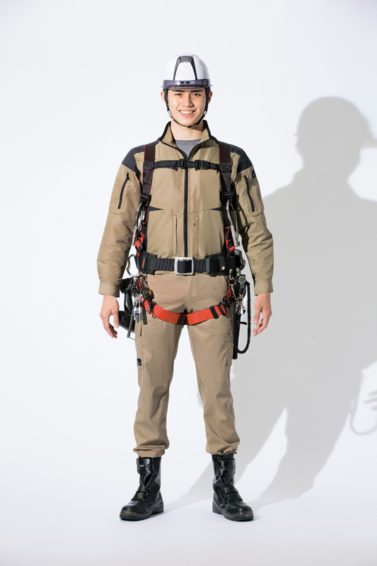 【空調服】フルハーネス対応長袖ブルゾン(帯電防止・男女兼用)単品